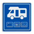 Verkeersbord Loosplaats voor Campers