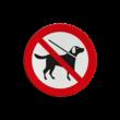 Pictogram - honden verboden