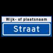 Straatnaambord KOKER 500x200mm - max. 8 karakters - met wijk- of plaatsnaam - NEN1772