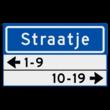 Straatnaambord KOKER 500x300mm - max. 8 karakters - met 2 regels huisnummers - NEN1772