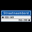 Straatnaambord KOKER 800x300mm - max. 14 karakters - met 2 regels huisnummers - NEN1772