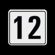 Container sticker Huisnummer wit/zwart | Modern