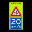 Verkeersbord J21 / A4 SCHOOLZONE