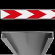 Schrikhekplank RVV BB18-1 C-profiel pijlmotief, 1 richting