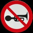 Verbodsbord - claxonneren verboden