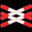 Andreaskruis - verzwaard - klasse 3 reflecterend - 4 bladen