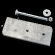 Bevestigingsset montagepaal (NS) voor planken