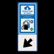 Verkeersbord RVV BW101_SP19 met pijl en logo
