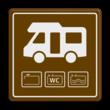 Parkeerbord Loosplaats voor Campers
