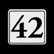 Container sticker Huisnummer wit/zwart | Klassiek