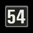 Container sticker Huisnummer zwart/wit   Modern