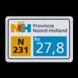 Hectometerbord DOR Noord-Holland 450x300mm