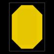 Tijdelijk snelheidsbord - RS 325b - 555x760mm - Reflecterend en met magnetisch vlak
