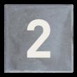 Stoeptegel 300x300mm - Grijs met witte huisnummer