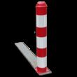 Afzetpaal kunststof inklapbaar - Ø100mm rood/wit