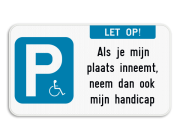Parkeerbord mindervaliden