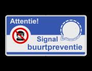 Signal buurtpreventie borden