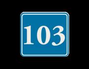 Container sticker huisnummer