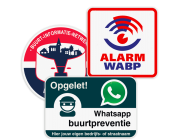 WhatsApp en BIN Buurtpreventie borden