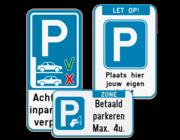 Parkeerborden toegelaten