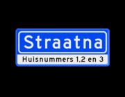 Straatnaambord BASIC + ondertekst