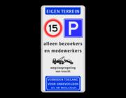 Parkeren toegestaan eigen te…