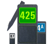 Huisnummerpaal met één nummer