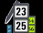 Huisnummerpaal met twee nummers