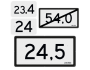 Kilometer- en hectometerborden