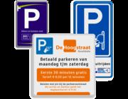 Parkeerborden tijden & tarieven
