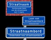 Straatnaambord + ondertekst