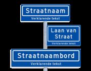 Straatnaambord KOKER + ondertekst