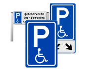 Parkeerborden mindervaliden