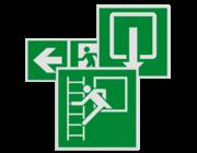 Vluchtroute pictogrammen