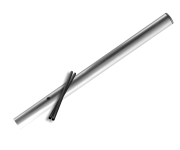 Verkeersbord-buispaal  900 mm boven de grond - Aluminium