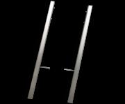 Montageframe TS6 staanders (60x60mm) - geborsteld aluminium - set 2 stuks