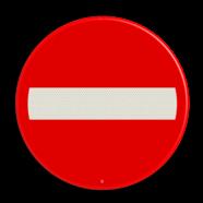 Scheepvaartbord A. 1a  - Invaart, uitvaart of doorvaart permanent verboden