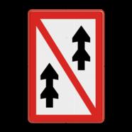 Scheepvaartbord A. 3 - Voorbijlopen verboden voor samenstellen onderling