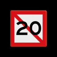 Scheepvaartbord A. 5.1 - Verboden ligplaats te nemen binnen de aangegeven meters