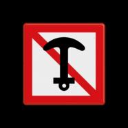 Scheepvaartbord A. 6 - Verboden te ankeren en ankers, kabels en kettingen te slepen