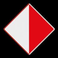 Scheepvaartbord A.10 - Verboden buiten de aangegeven begrenzing te varen