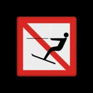 Scheepvaartbord A.14 - Verboden te waterskiën