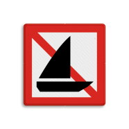 Scheepvaartbord A.15 - Verboden voor zeilschepen