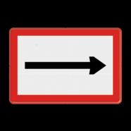 Scheepvaartbord B. 1 - Verplicht te varen in de richting aangegeven door de pijl
