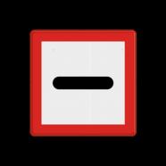 Scheepvaartbord B. 5 - Verplicht voor het bord stil te houden