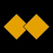 Scheepvaartbord D. 1b - Aanbevolen doorvaartopening, doorvaart uit tegengestelde richting verboden