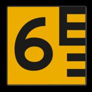 Scheepvaartbord G. 5.1 - Hoogteschaal