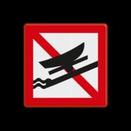 Scheepvaartbord A.19 - Verboden boten te water te laten of uit het water te halen