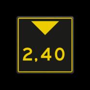 Scheepvaartbord G. 5.2 - Aanduiding onderhoogte