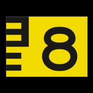 Scheepvaartbord G. 5.1. - Hoogteschaal